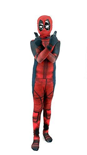 Marvoll Kids Onesie Spandex Mask Cosplay 3D Costume Party Movies Halloween Bodysuits (3D Kids -