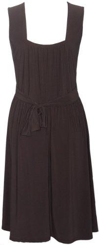 dos Brun grande cocktail Fonc manches Hanger sans Purple ceinture Femmes au Robe extensible attache boucle taille 7qzw7t6