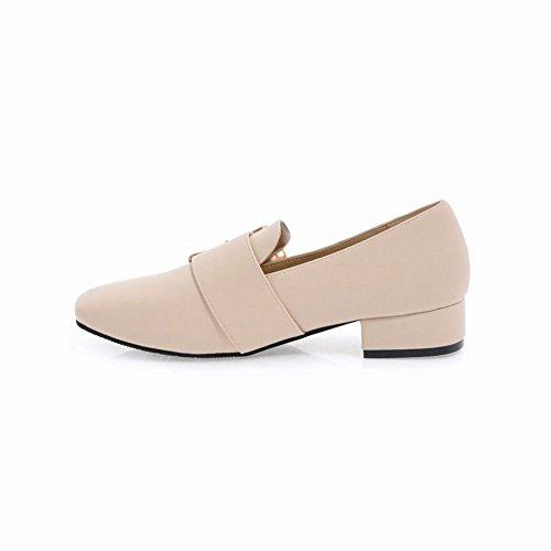 Latasa Womens Monk Strap Slip on Loafers Shoes Beige EldWuCKWXg