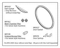 002-0361-01 Part# 002-0361-01 - Kit Gasket For M9 Sterilizer Door And Dam New Style Ea By Midmark Corporation