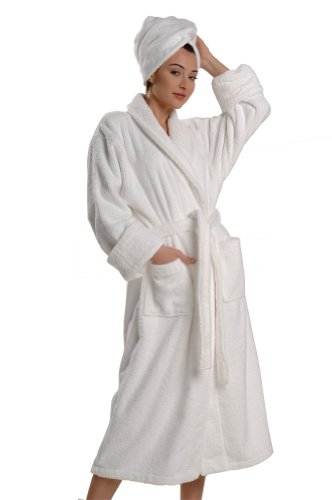 Thirsty Towels Turkish Cotton Luxury Bathrobe 2XL White by ThirstyTM Towels
