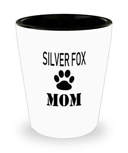 White Ceramic Shot Glass Gift For Silver Fox Owner Personalize Rabbit Mug Custom Pet Mug Rabbit Mom Mug For Rabbit Lovers,al2648