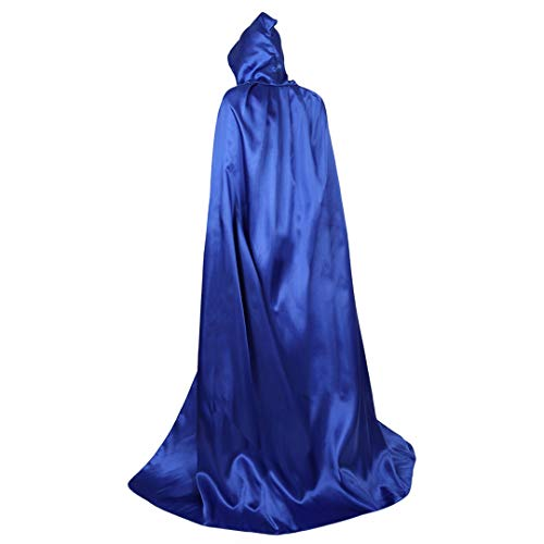 Blue Hooded Robe (Full Length Unisex Tunic Hooded Robe Cloak Adult Halloween Costume Cosplay Capes Sky Blue-L)
