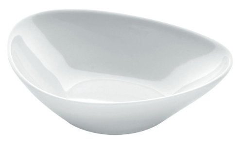 Alessi Colombina 5-3/4-Inch by 5-Inch by 10-1/4-Inch Serving Bowl shallow, White Porcelain, Set of 6