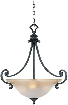 Designers Fountain 96131-NI Barcelona Inverted Pendant, Natural Iron