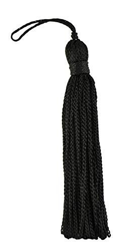 (DÉCOPRO Set of 10 Black Chainette Tassel, 3 Inch Long with 1 Inch Loop, Basic Trim Collection Style# RT03 Color: K9)
