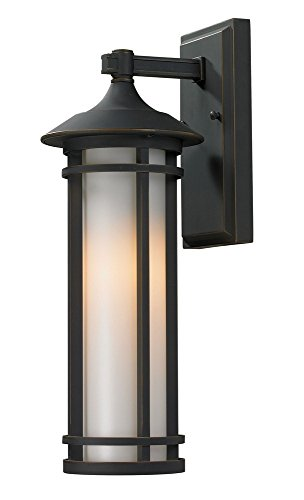 - Z-Lite 530S-ORB Outdoor Wall Light, Matte Opal shade Aluminum Frame