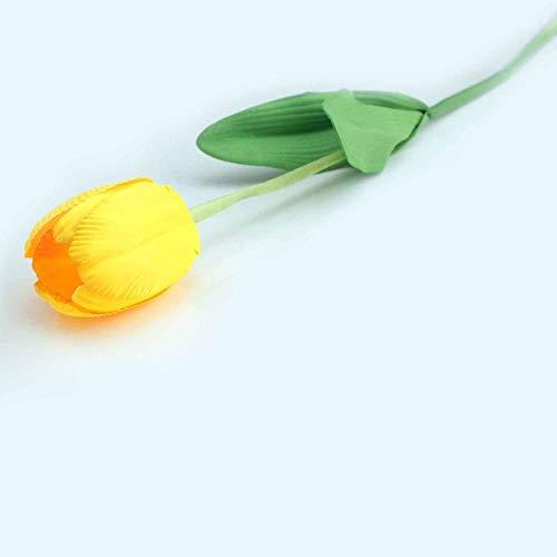 (Annibus Flower Tulip: 1pcs 64cm Artificial Tulips Fake Flowers PU Flower Single Long Stem Bouquet Beautiful Simulation Flower for Home Wedding Decor)