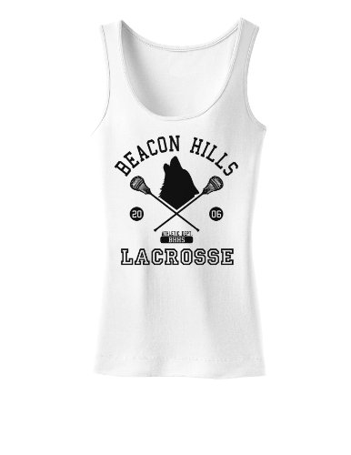 Amazon Com Beacon Hills Lacrosse Wolf Womens Tank Top Clothing