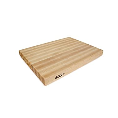 John Boos RA03 Maple Wood Rdge Grain Reversible Cutting Board, 24 Inches x 18 Inches x 2.25 Inches