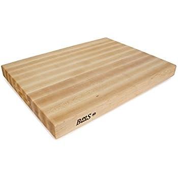 John Boos RA03 Maple Wood Edge Grain Reversible Cutting Board, 24 Inches x 18 Inches x 2.25 Inches