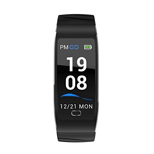 KAKALOR Smart Watch S7 Bluetooth Activity Tracker with Sleep Monitor Fitness Tracker, Heart Rate Monitor, Step Counter, Calorie Counter, Waterproof Pedometer Watch (Black)