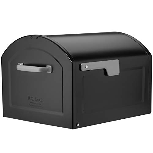 (Architectural Mailboxes 950020B-10 Centennial Postmount Mailbox, XL, Black)