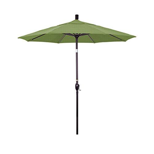 Cheap California Umbrella 7.5′ Round Aluminum Market Umbrella, Crank Lift, Push Button Tilt, Bronze Pole, Sunbrella Spectrum Cilantro
