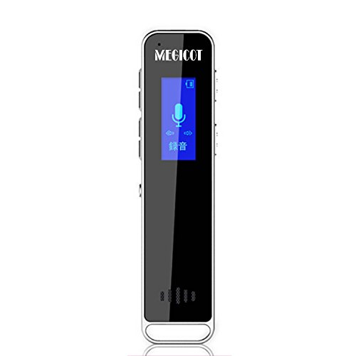MEGICOT 16GB Digital Voice Recorder with Double Microphone,