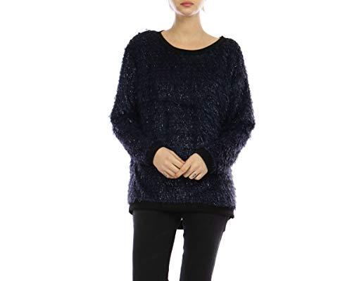 Bleu Lyse Pull Poils Sweater Marine wngtSRxzq
