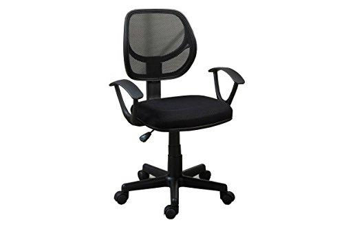 Poundex Mesh Back Nylon Base and Caster Office Chair, Black