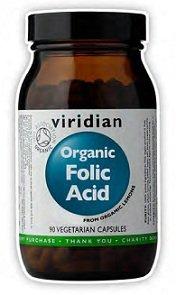 Viridian Organic Folic Acid - 400Mcg - 90 Vegicaps by Viridian