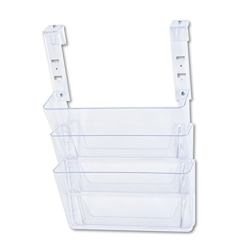 deflect-o 3 Pocket File Partition Set with Brackets, Letter, Clear (Partition Set File Pocket)