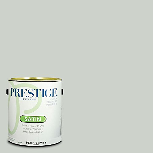 Sherwin Williams Satin (Prestige Paints Interior Paint and Primer In One, 1-Gallon, Satin,  Comparable Match of Sherwin Williams Sea Salt)