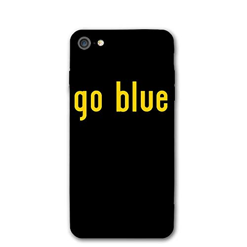 - iPhone 7 Case. Go Blue Football MI Shock Absorption PC Soft Material Raised Edge Ultra-Thin Cover Case Drop Protection Phone Case for iPhone 7/8