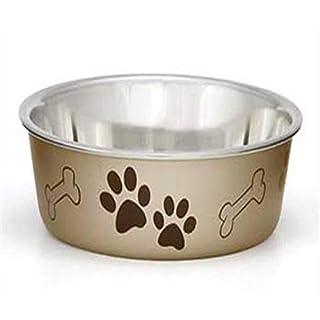 Loving Pets Metallic Bella Bowl, Extra Large, Champagne