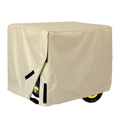 Porch Shield 100% Waterproof Universal Generator Cover 35x26x28 inch, Light Tan