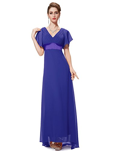 Ever-Pretty Long Elegant Cocktail Dresses for Party Sapphire Blue US18