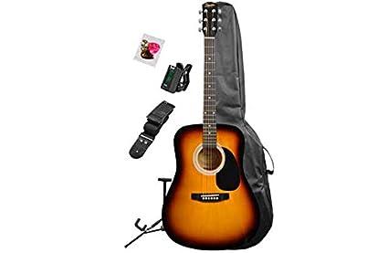 Squier Fender Tamaño Completo guitarra acústica - Sunburst ...