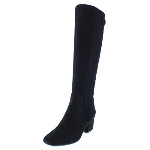 Bandolino Womens Farron Suede Over-The-Knee Boots Black 8 Medium (B,M)