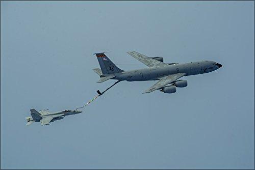 24x36 Poster . Fa-18E Super Hornet, (Vfa 27) Boeing Kc-135R Stratotanker ()