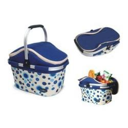 Collapsible Picnic Cooler Basket in Blue