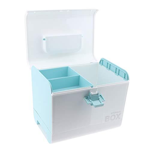e trucco porpora di scompartimenti cosmetici multipli di B blu plastica Baosity con di gli immagazzinaggio i di di Scatola per prodotti 1AgBaUqHgw