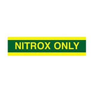 Nitrox Only Tank Wrap Sticker For Easy Tank Identification -