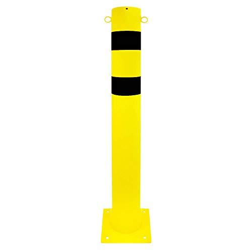 ROBUSTO Rammschutzpfosten XXL, gelb/schwarz, 2 Ösen, aus Stahl, Ø 15,9 cm