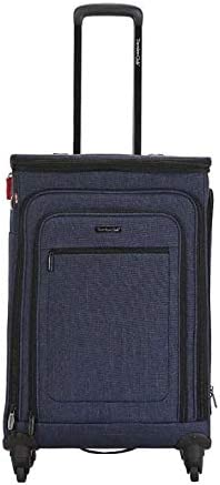 Travelers Club Luggage Stafford 24 inch Spinner Expandable Suitcase 2 in 1 Blue