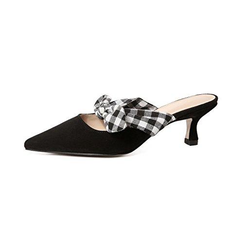 KPHY di dolce black Thirty sandali arco spessi con signora cuoio appuntito 37 moda five scarpe trendsetter 0Er6Eq