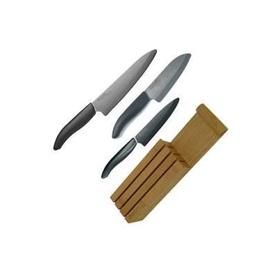 Kyocera Knife Set with Bamboo Block