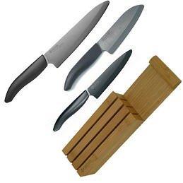 Kyocera Knife Set Bamboo Block