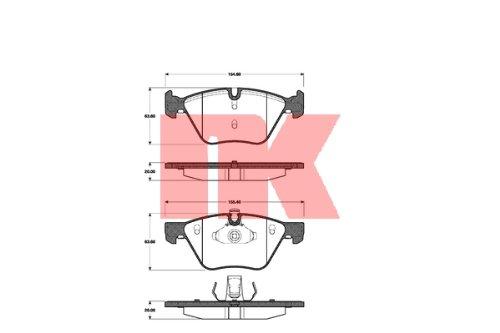Scheibenbremse NK 221527 Bremsbelagsatz