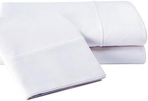 Vivendi 800 Hilos algodón Egipcio 4 Pieza Juego de sábanas, Blanco ...