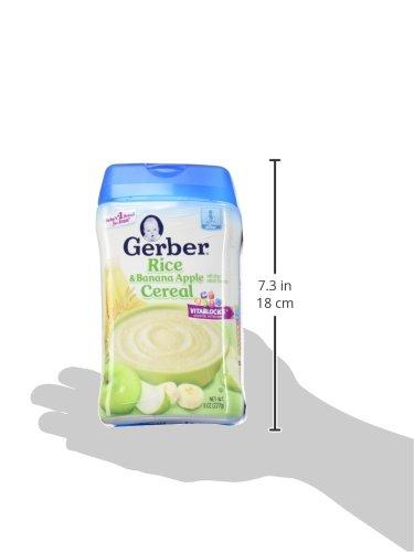 Gerber RICE & BANANA APPLE CEREAL 8oz. (Pack of 4) by Gerber (Image #8)