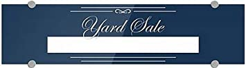 Yard Sale 24x6 5-Pack Classic Navy Premium Acrylic Sign CGSignLab