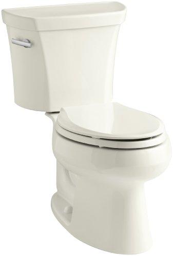 Kohler K-3978-96 Wellworth Elongated 1.6 gpf Toilet, Biscuit