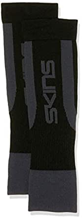 SKINS Unisex Compression Essentials Seamless CALFTIGHT Support, Black/Pewter, R0S