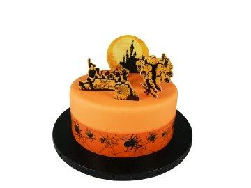 Halloween Haunted Cake Topper (Halloween Themed Cake Pops)