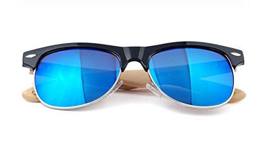 de Aviator madera Ahatech 2 Women gafas Protection sol Uv400 con Color de polarizadas caja IPZP0w