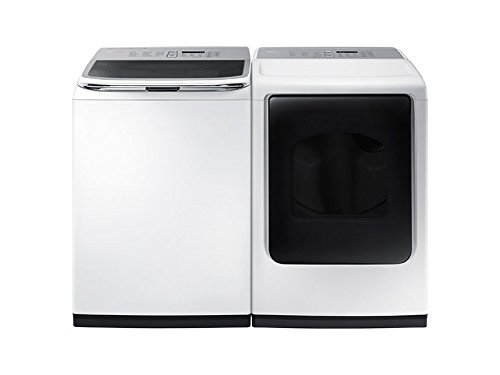 Samsung ActiveWash Pair-Mega-Capacity HE Top Load Laundry System with Matching GAS Dryer in Pure White Finish (WA50K8600AW+DV50K8600GW)