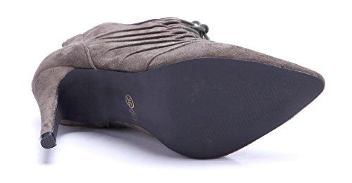 Schuhtempel24 Damen Schuhe Klassische Stiefeletten Stiefel Boots Stiletto 10 cm High Heels Grün