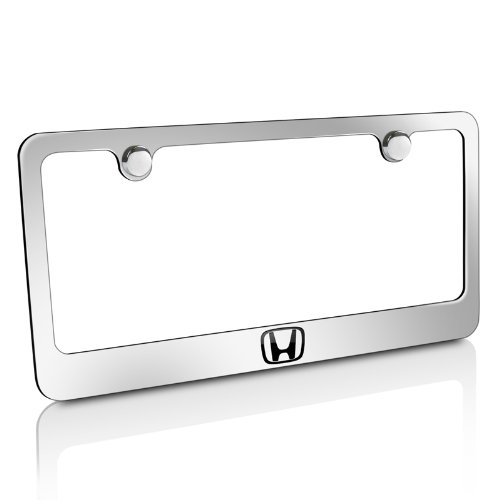 CarBeyondStore Honda H Logo Chrome Brass License Plate ()